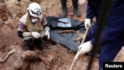 Jedna od masovnih grobnica u Siriji