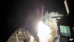 Raketa Tomahawk ispaljena sa američke ratne mornarice u Sredozemnom moru