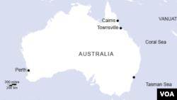 نقشه کشور و قاره استرالیا