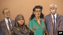 지난 2일 미국 뉴욕에서 대량살상무기 사용을 기도한 혐의로 체포된 여성 2명이 연방법정에 출두했다. 미 수사당국은 6일 이슬람 수니파 무장조직 ISIL을 지원한 혐의로 뉴욕에 거주하는 미국인을 추가 기소했다. (자료사진)