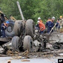 現場見到的客機殘骸