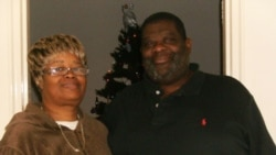 Sharon and Jeffrey Davis at a shelter in Arlington, Virginia. They are currently homeless, but hope that will soon change.
