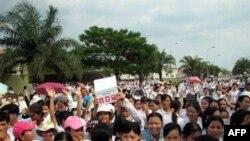Ảnh minh họa: Công nhân đình công ở Việt Nam