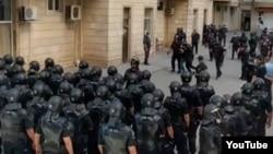Polis Yasamal rayonunda əməliyyat keçirtir