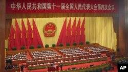 中國全國人大會議現場(資料照片)