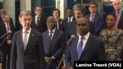 Alpha Barry, ministre des Affaires étrangères du Burkina Faso à la fin des travaux, à Ouagadougou, le 24 mars 2019. (VOA/Lamine Traoré)