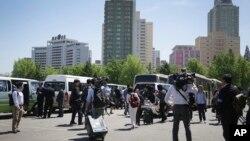 2016年5月8日朝鲜通知外国记者采访安排有变将另行通知。