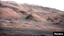 The base of Mars' Mount Sharp, the rover's eventual science destination