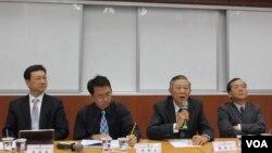 台北論壇就兩岸關係走向舉行座談會(美國之音 張永泰拍攝)