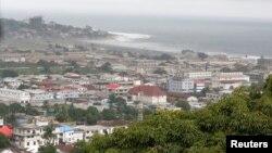 Une vue de Monrovia, Liberia, 1er juillet 2016.