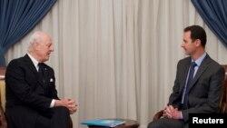 اقوام ِمتحدہ کے ایلچی اور صدر اسد ۔۔۔