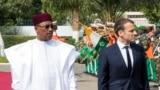 Shugaban Niger Mahamadou Issoufou da shugaban Faransa Emmanuel Macron