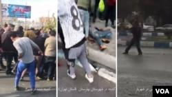 عکس راست تیراندازی یک درجهدار نیروی انتظامی به سمت مردم و دو عکس دیگر تائید کشتهها در بهارستان و شیراز.