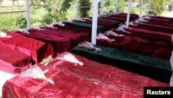 Gawarwakin sojojin Afghanistan da 'yan Taliban suka hallaka wannan watan