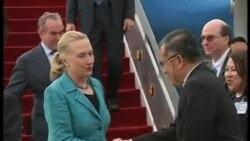 克林顿抵达东帝汶访问