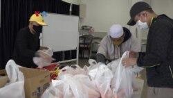 Organisasi Muslim Indonesia dan Warga Muslim Bagi Sembako untuk Komunitas di Silver Spring, Maryland