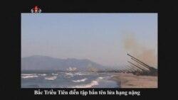 Bắc Triều Tiên diễn tập bắn tên lửa hạng nặng