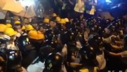 数千香港市民上街集会与警方对峙