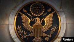 资料照片:纽约南区联邦法庭的徽章。(2014年11月4日)