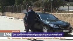 La conférence de Bahreïn boycottée par les Palestiniens
