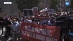 Gazetecilerden Polis Şiddetine Protesto