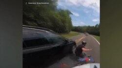 گاڑی اور سائیکل کی ٹکر ہیلمٹ کیمرہ نے ریکارڈ کرلی
