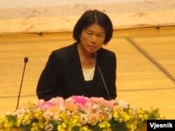 台灣文化部長龍應台(美國之音張永泰拍攝)