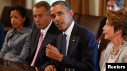 Barak Obama Oq uyda Kongress yetakchilari bilan fikr almashdi