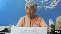 "Flavia Pansieri, UN Deputy High Commissioner for Human Rights, told reporters ""there has been a deterioration in 2014 in the extent to which freedom of expression and assembly in Cambodia are guaranteed and enjoyed."""