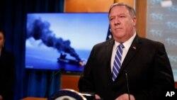 آقای پمپئو گفت که پرونده ایران را به شورای امنیت میبرد.