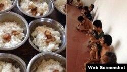 Bữa cơm của những người bệnh tâm thần. (Ảnh chụp màn hình trang web vnexpress.net).