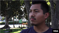 Pedro Trujillo worries that young people now shielded from deportation by President Barack Obama's DACA program will be at risk under President Donald Trump. (E. Lee/VOA News)