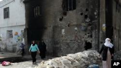정부군과 쿠르드 반군이 전투를 벌인 터키 시즈레 (자료사진)