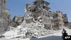 Поселок Ариха в провинции Идлиб, Сирия. 2 августа 2019 г.