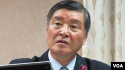 台湾国防部长 高华柱(美国之音记者 张永泰拍摄)