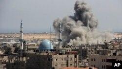 İsrail füzesi tarafından vurulan Refah kenti