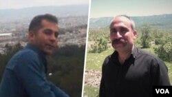 خلیل اسدی بوژانی (راست) و صحبت امیدی