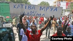 Waandamanaji wanataka mageuzi ya katiba yafanyike Tanzania kabla ya uchaguzi mkuu ujao.