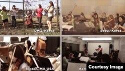 미국 보스톤 버클리 음대 학생들 40여 명이 DMZ, 서울, 보스톤 등지에서 연주회를 가졌다. 학생들이 인터넷 동영상 사이트 유투브에 올린 공연 장면.