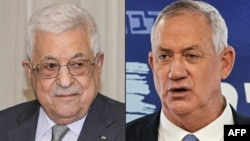 Presidenti palestinez Mahmoud Abbas (majtas) dhe Ministri izraelit i Mbrojtjes Benny Gantz (djathtas)