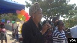 vice governadora para sector político e social Maria de Lourdes Veiga