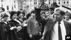 Вацлав Гавел. Прага, Чехословакия, 1990г.