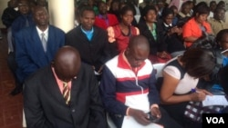 Some of the people who attended the voter registration meeting in Harare.