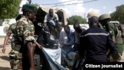 Jami'an tsaro sun kwashe baraguzan mutanen da 'yan Boko Haram suka hallaka da bam a Jakana cikin Kamaru