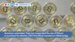VOA60 America - American automaker Tesla has suspended the use of bitcoin to purchase its vehicles
