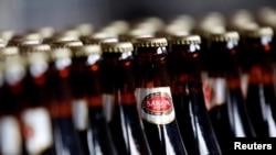 Dây chuyền sản xuất bia Sabeco.