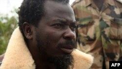 Le pasteur Fréderic Bitsangou Ntumi leader de l'ancienne milice Ninja, dans la région du Pool, Congo-Brazzaville, 20 juin 2007.