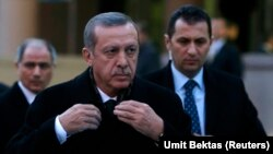 레제프 타이이프 에르도안 터키 총리가 지난 18일 앙카라에서 열린 한 행사에 참석하고 있다.