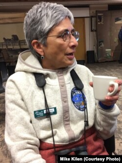 Neseem Munshi of Colorado has been coming to Nebraska to see the crane migration for many years and compares it to the world's other great migration in her native Africa -- the wildebeests.