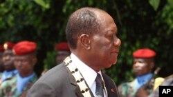 Le président ivoirien Alassane Ouattara, 3 novembre 2015.